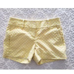 Ann Taylor petite yellow flat front textured short